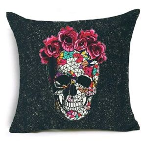 Host Pick Day of the Dead Skull Cover Accent pillo